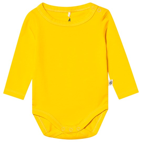 A Happy Brand Long Sleeve Baby Body Yellow