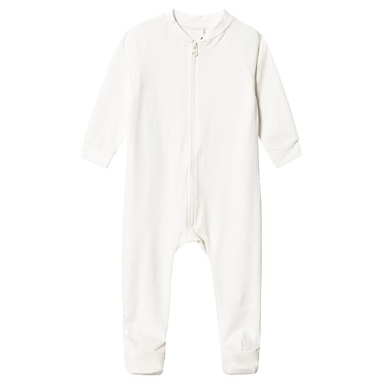 A Happy Brand Footed Baby Body White