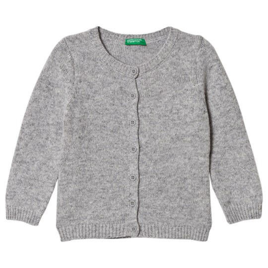 United Colors of Benetton Grey Knitted Cardigan Black