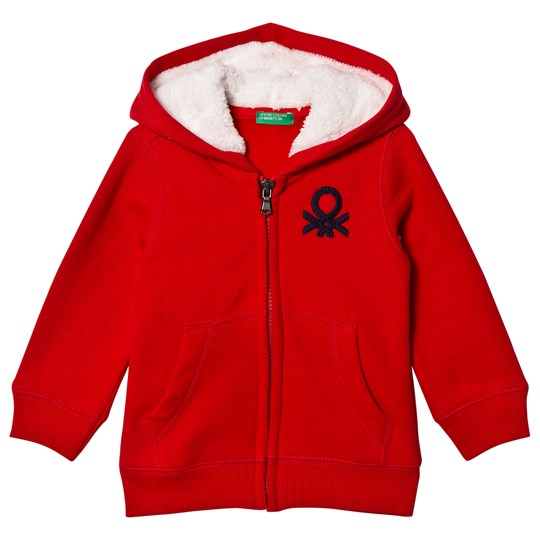 United Colors of Benetton Jacket W/Hood L/S Red Red