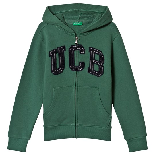 United Colors of Benetton Green Logo Hoodie Green