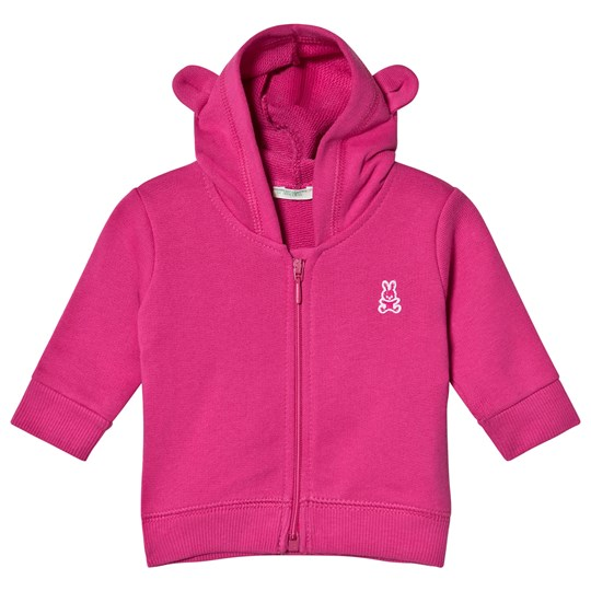 United Colors of Benetton Fuschia Hoodie with Ear Details Fuschia