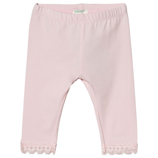 United Colors of Benetton Light Pink Leggings with Lace Light Pink