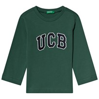 8507baeaa5b United Colors of Benetton Forest Green and White & Black Branded Tee Green.  Køb nu