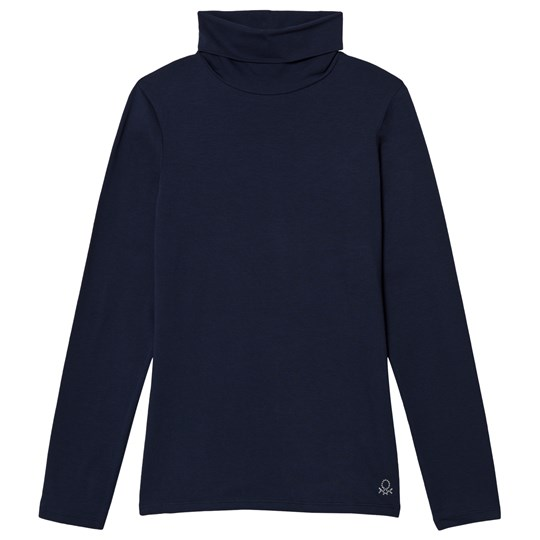 United Colors of Benetton Navy Turtleneck Tee Marinblå