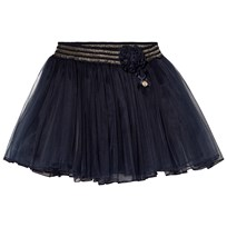 7e50ab6d Le Chic Navy Tulle Skirt with Rose Detail 190