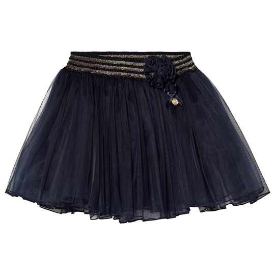 Le Chic Юбка Navy Tulle Skirt with Rose Detail 190