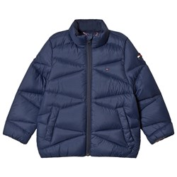 Tommy Hilfiger Navy Lightweight Down Padded Coat