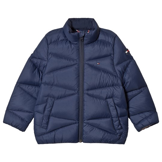 Tommy Hilfiger Navy Lightweight Down Padded Coat 002