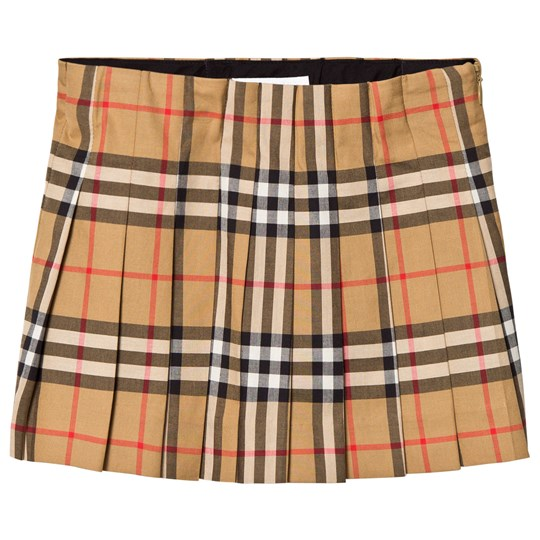 Burberry Pearl Vintage Check Skirt Beige A2442
