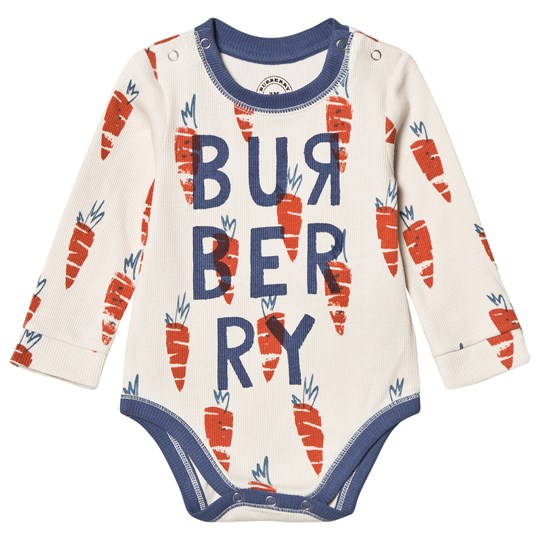 Burberry Beige Beval Carrot Logo Print Baby Body A1450