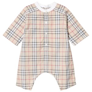 Image of Burberry Colton Romper Beige 1 month (3125256319)
