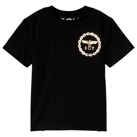 Boy London Black and Gold Eagle Print Tee BLACK/GOLD