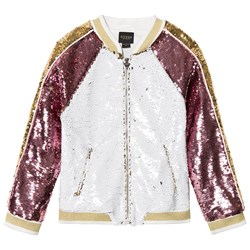 Guess Reversible Sequin Bomber Jacket