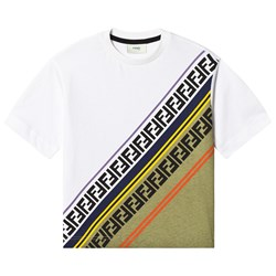 Fendi White Stripe Tee