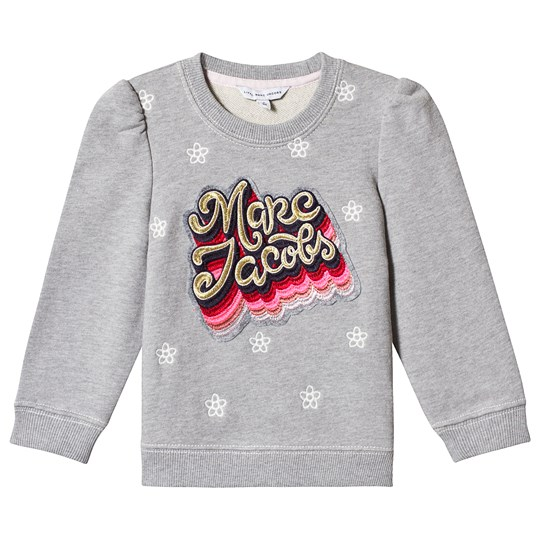 Little Marc Jacobs Grey Embroidered Logo Sweatshirt A43