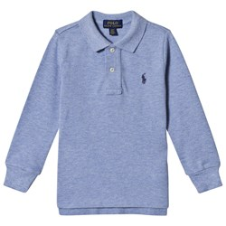 Ralph Lauren Branded Long Sleeve Polo Blue Heather