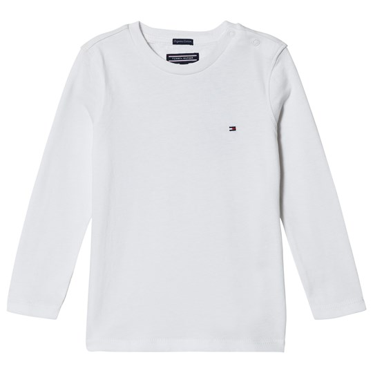 Tommy Hilfiger White Long Sleeve Flag Tee 123