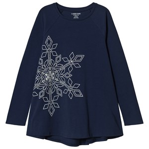 Image of Lands' End Navy Snowflake Top 8-9 years (3125296849)