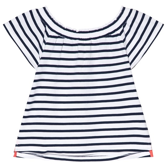 Lands' End Navy and White Striped Top 8AG