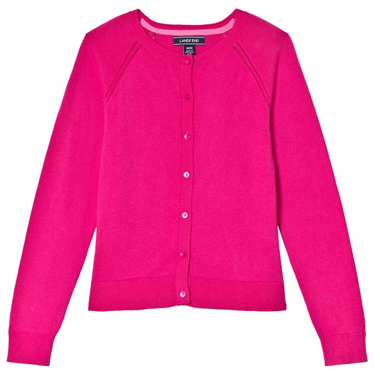 Lands' End Pink Sophie Cardigan GB9
