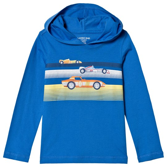 Lands' End Blue Racers Graphic Hoodie 7RS