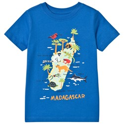 Lands' End Madagascar Island Graphic Tee Blue