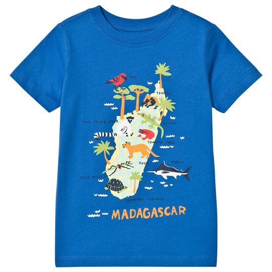 Lands' End Madagascar Island Graphic Tee Blue 7RT