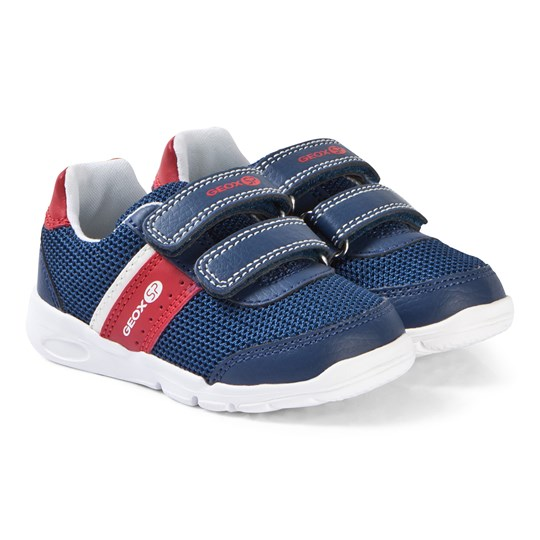 Geox Navy and Red Runner Sneakers C0735