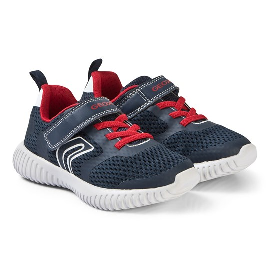 Geox Navy and Red Waviness Sneakers C0735