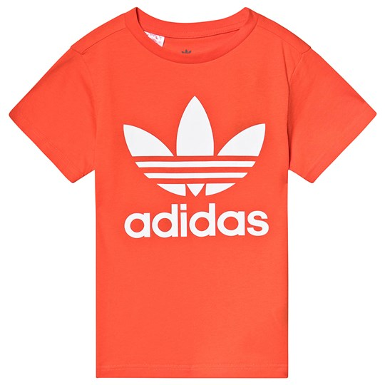 adidas Originals Orange Trefoil Logo Tee active orange/white