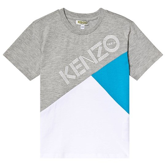 Kenzo Grey Colour Block Logo Tee 01