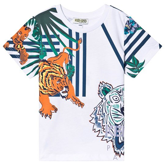 Kenzo White Tiger and Friends Tee 01
