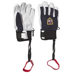 Hestra Army Leather Patrol Gloves Navy and White