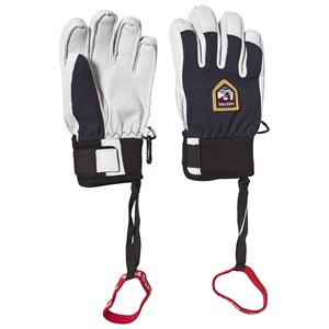 Image of Hestra Army Leather Patrol Gloves Navy and White 3 (4-5 years) (3125316245)