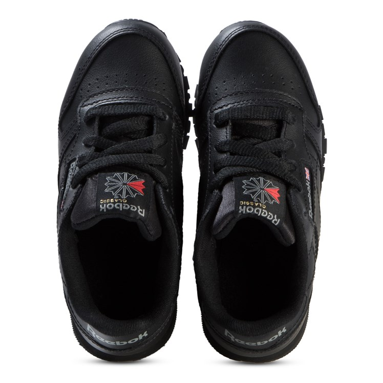 Reebok Black Classic Leather Sneakers Babyshop.no