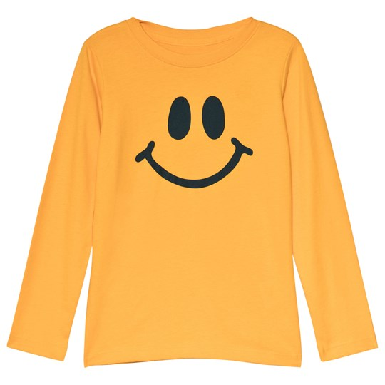 Lands' End Yellow Smiley Long Sleeve Tee 7R1