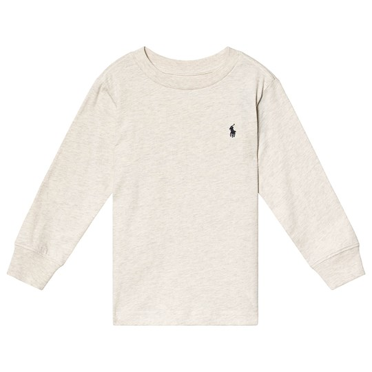 Ralph Lauren Oatmeal Long Sleeve Tee with PP 016
