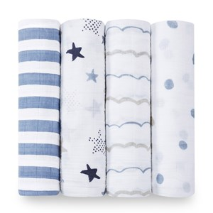 Image of Aden + Anais 4-Pack Rockstar Classic Swaddles (3038730743)