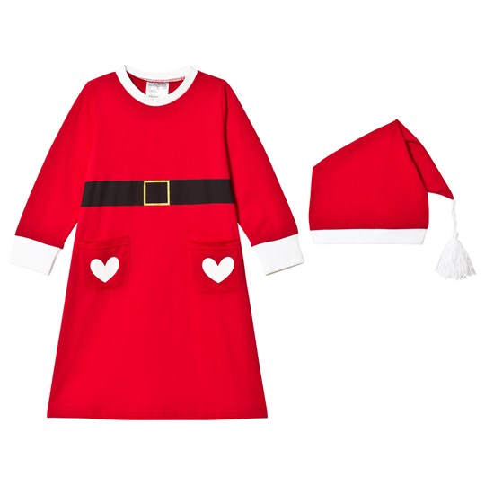 Christmas Kids Santa Costume Red Red