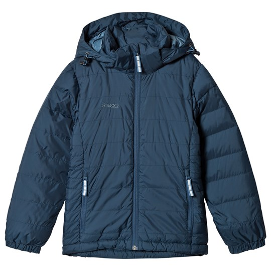 Bergans Down Jacket Youth Dark Steel Blue Blue
