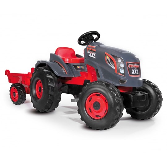 Smoby Tractor, Stronger XXL, Grey/Red Black