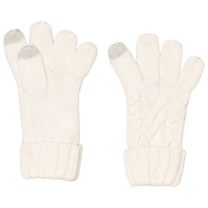 Image of GAP Ivory Frost Cable Knit Gloves S (6-7 år) (1199022)