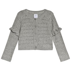 GAP Heather Grey Ruffle Cardigan