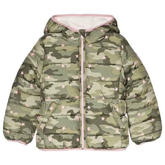 GAP ColdControl Max Sherpa Puffer Jacket Camo Print Camouflage