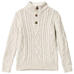 GAP Oatmeal Heather Cable Knit Sweater