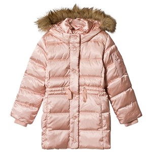 Image of GAP Pink Champagne Elongated Puffer Jacket XXL (14 år) (1199260)