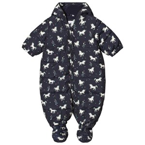 Image of GAP Navy Unicorn Print Coverall 0-6 mdr (3125296343)