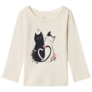 Image of GAP Blue Cat Long Sleeve Tee Off-White 12-18 mdr (3056111123)
