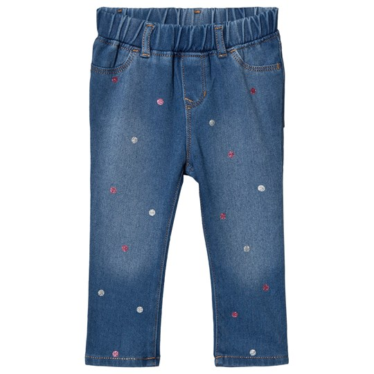 GAP Medium Wash Superdenim Dot Jeggings MEDIUM WASH